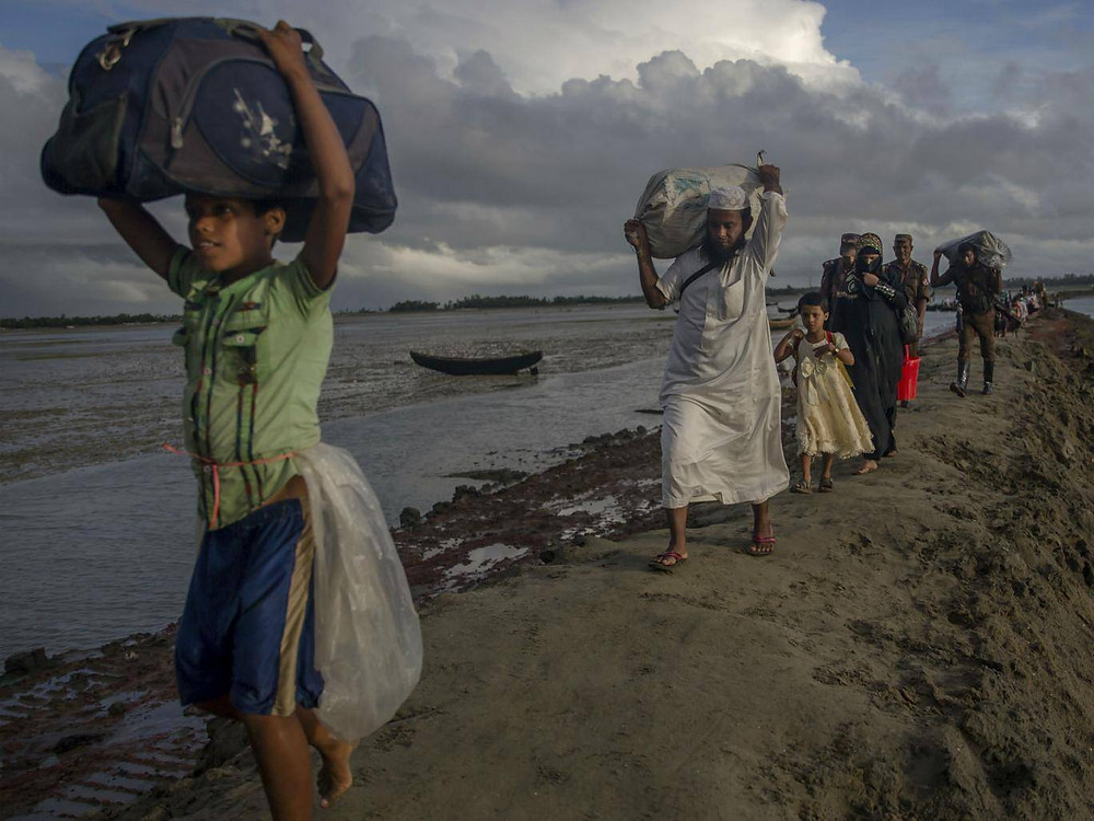 More than 650,000 Rohingya are estimated to have fled from Myanmar into Bangladesh Dar Yasin/AP