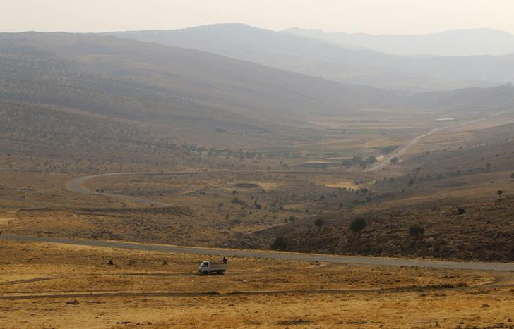 A general view of Mount Sinjar in northern Iraq August 13, 2014.  © 2014 Reuters