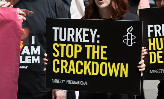 Journalists and other members of civil society have taken the full brunt of Turkey's post-coup crackdown © Amnesty International (Clare Bullen)