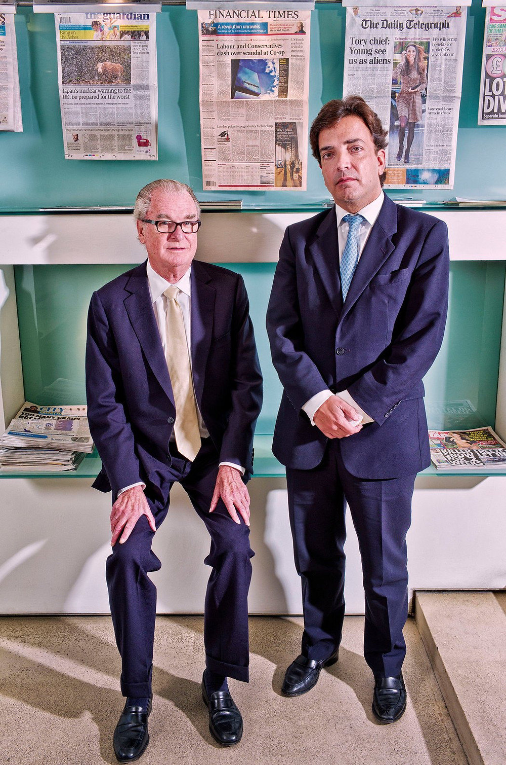 A vicious boardroom struggle unfolded at Bell Pottinger after its work for the Gupta brothers was revealed. It pitted a co-founder, Tim Bell, left, against James Henderson, who ran the firm in the years before it closed. Their conflict centered on the perennials of business potboilers, namely power and money. Credit Sarah Lee/Eyevine