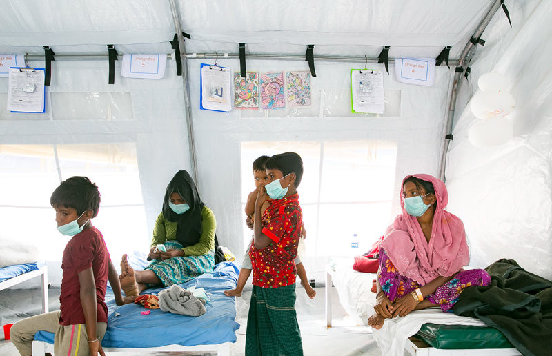One day this past week, 117 patients came into the clinic to be screened for diphtheria.    Allison Joyce for NPR