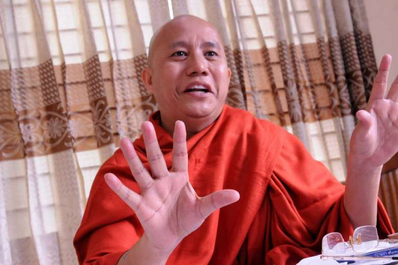 Wirathu (above, in a 2015 file photo) has led calls for restrictions on Myanmar's Muslim population.ST FILE PHOTO
