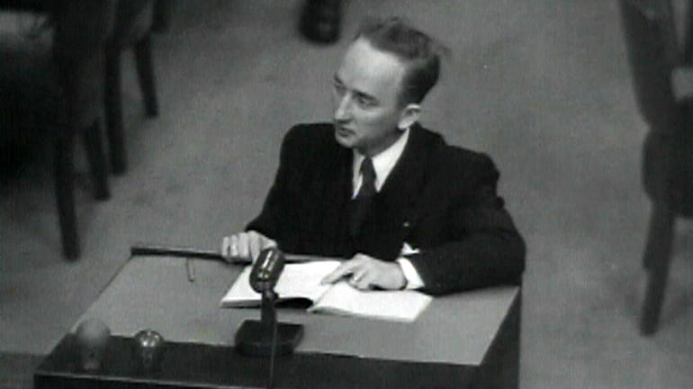 27-year-old Ben Ferencz became the chief prosecutor of 22 Einsatzgruppen commanders at Nuremberg.