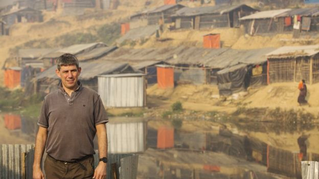 Image captionSCIAF director Alistair Dutton has urged the international community to do more to help the refugees