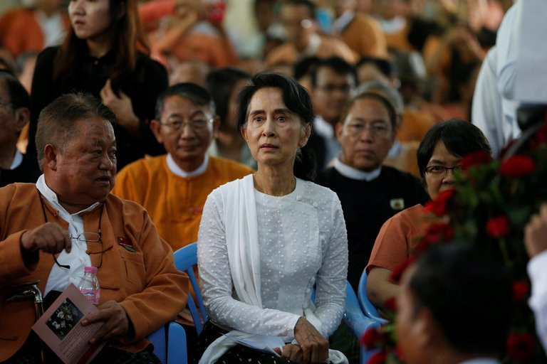 Daw Aung San Suu Kyi has been criticized for not speaking out about deadly attacks carried out against Rohingya Muslims in Myanmar. Credit Soe Zeya Tun/Reuters
