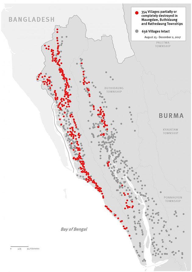 Burma: 40 Rohingya Villages Burned Since October Satellite