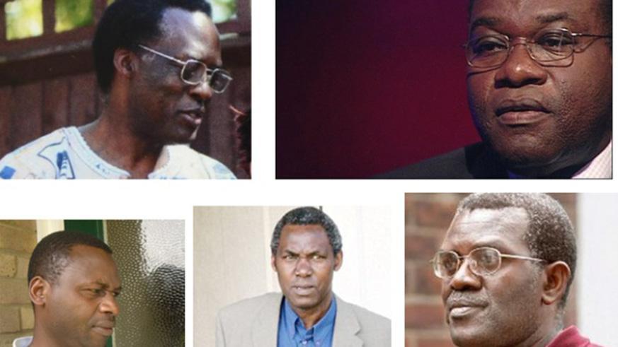 Clockwise: Celestin Mutabaruka, Dr Vincent Bajinya, Emmanuel Nteziryayo, Celestin Ugirashebuja, Charles Munyaneza. Photo: New Times