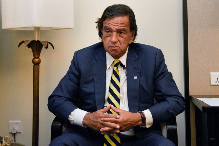 "Bill Richardson in Yangon, Myanmar, on Wednesday. He said Myanmar's civilian leader, Daw Aung San Suu Kyi, had ""developed an arrogance of power."" Credit Thet Htoo/Associated Press"
