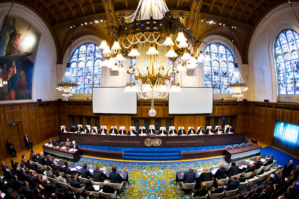 Meeting in The Hague on 3 February 2015, the International Court of Justice (ICJ) dismissed genocide claims by Croatia and Serbia. UN Photo/CIJ-ICJ/Frank van Beek