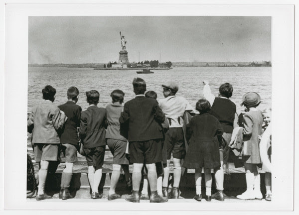 Photo: A group of Jewish children rescued from Vienna look at the Statue of Liberty as they pull into New York harbor in June 1939. They were brought to the United States by Gilbert and Eleanor Kraus.US Holocaust Memorial Museum, courtesy of Steven Pressman