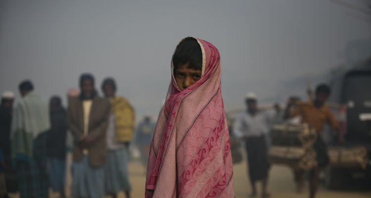 A child is seenIn Balukhali Rohingya Refugee camp February 1, 2018 in Chittagong district, Bangladesh. UN Women/Allison Joyce