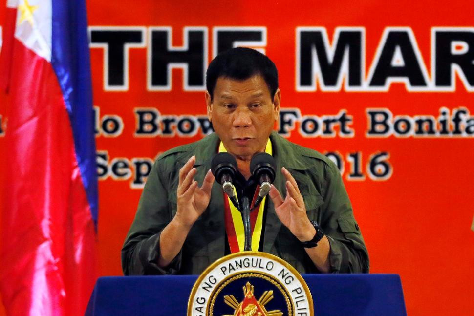 "Philippine President Rodrigo Duterte said killing drug users would ""save the next generation from perdition."" (BULLIT MARQUEZ/AP)"