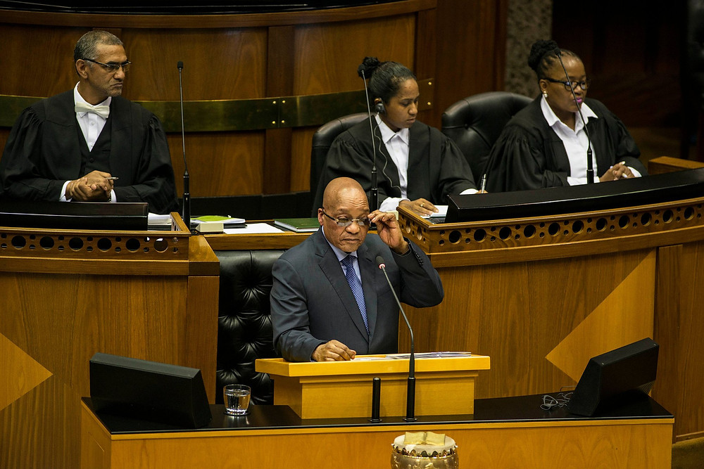 Mr. Zuma answers questions from South Africa's Parliament last March about his leadership, including his relationship with the Guptas, three wealthy brothers from India. Credit David Harrison/Agence France-Presse — Getty Images
