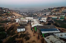 Kutupalong, in Bangladesh, is the world's largest refugee settlement, part of a network of camps that has taken in more than 655,000 Rohingya from Myanmar since August. Credit Adam Dean for The New York Times