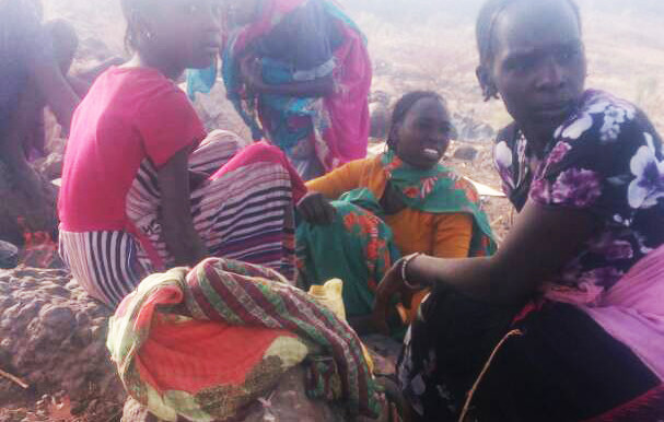 Some of those displaced by recent violence in Jebel Marra