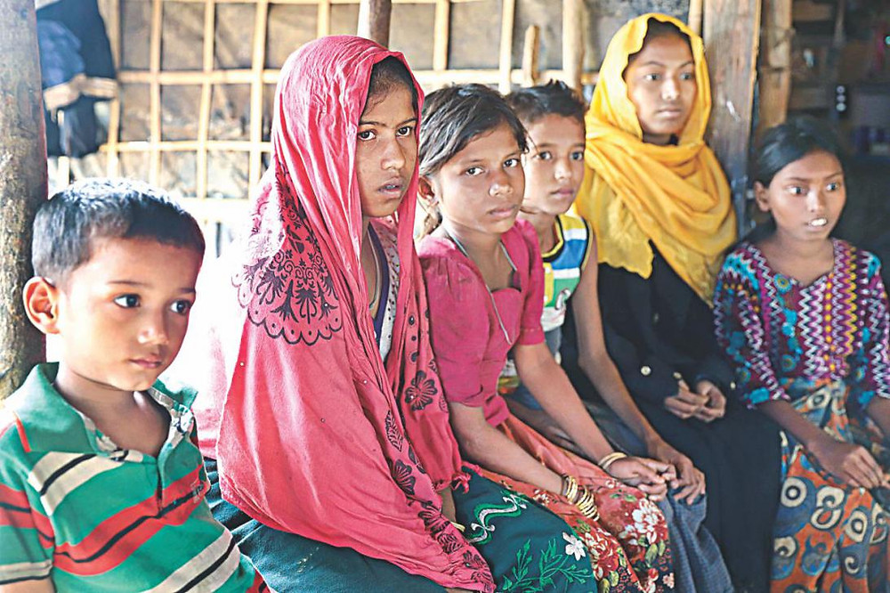 These children lost their parents in Myanmar and came to Bangladesh on their own. File Photo: Amran Hossain/ STAR