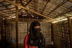 """Rahima, 15, fled Myanmar in September. She was gang-raped by soldiers, one of whom bit her cheek, leaving a scar. """"I don't know why he bit me,"""" she said. """"There are many things I don't understand."""" Credit Tomas Munita for The New York Times"""