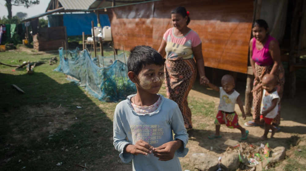 Some 250 migrants have been moved under the 'Rakhinisation' scheme [Phyo Hein Kyaw/AFP]
