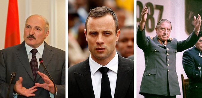 During its 30 years in the upper echelons of Britain's spin doctoring game, Bell Pottinger sought to polish the images of dictators like the Belarus president, Alexander Lukashenko, left, and Augusto Pinochet, Chile's president, right, and celebrities like Oscar Pistorius, center, the Olympic runner after he was charged with murder. Credit Dumitru Doru/European Pressphoto Agency
