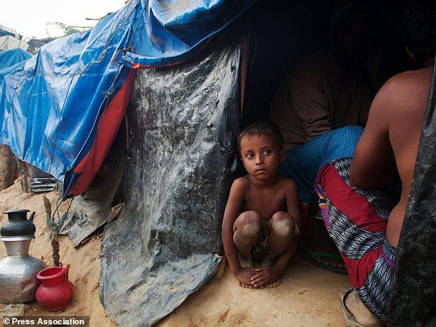 A boy in a refugee camp (Sciaf/PA)