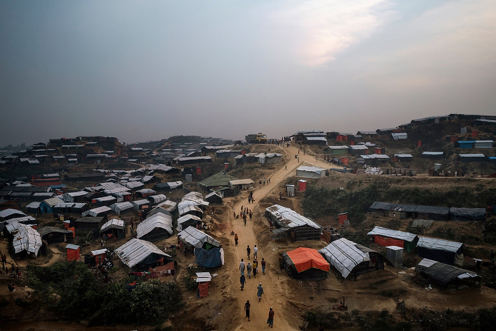 The Kutupalong refugee camp now ranks as the world's largest. Nearly 700,000 Rohingya have fled for Bangladesh over the past five months. Credit Adam Dean for The New York Times