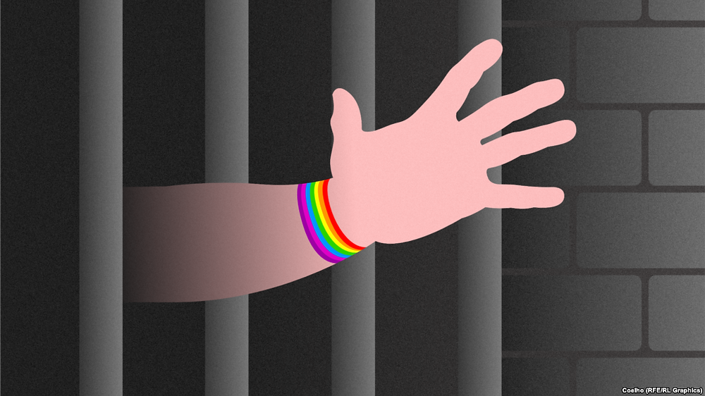 "Rights groups say Russia's 2013 gay ""propaganda"" law has encouraged violence and state crackdowns against LGBT communities in other former Soviet republics. (RFE/RL Graphics)"