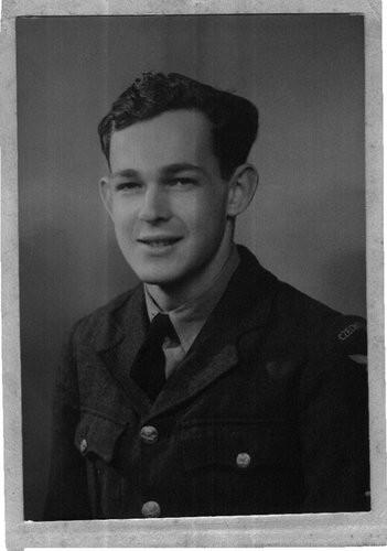 Mr. Salz in 1943, in his Royal Air Force uniform