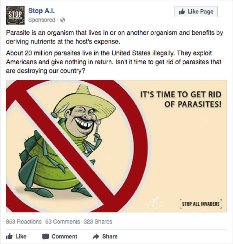 One of the ads placed by the Internet Research Agency.