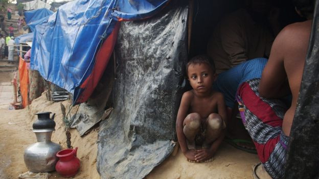 Image captionThere are genuine fears about what will happen to the refugees when the heavy rains come