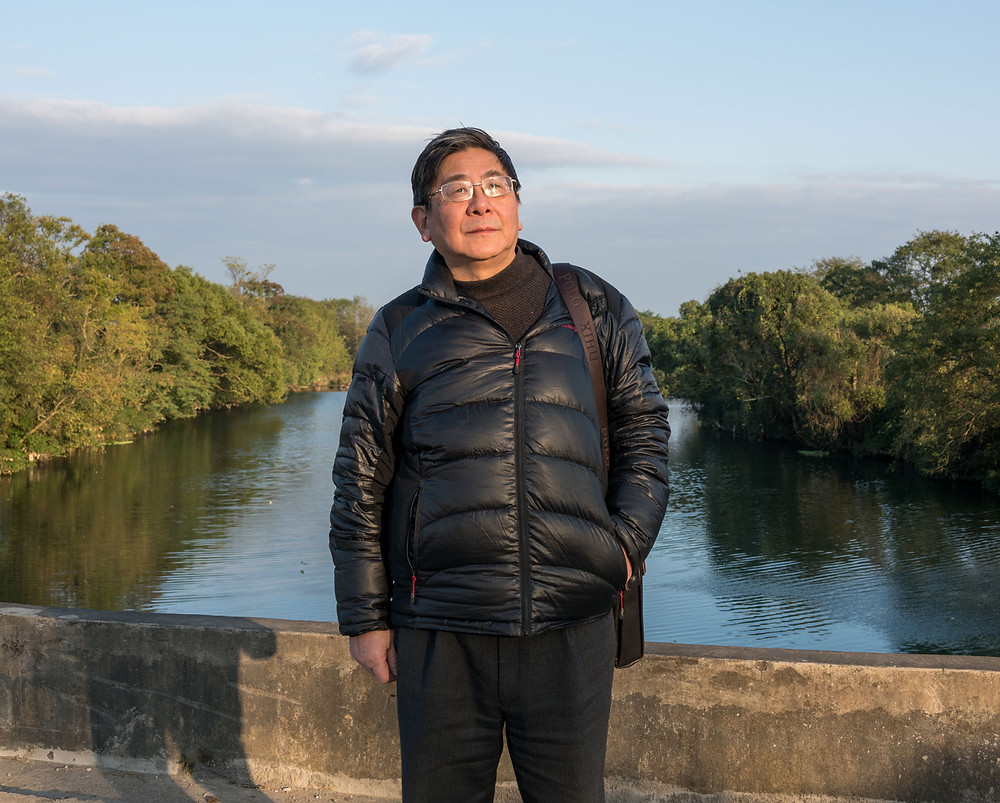 Tan Hecheng, author of The Killing Wind, on China's Cultural Revolution, at Widow's Bridge where many were murdered in the fall of 1967, November 2016 (Sim Chi Yin/VII)