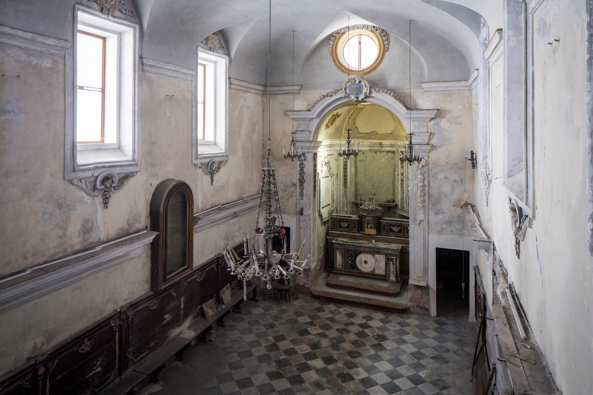 The former Baroque oratory known as Santa Maria del Sabato, or Holy Mary of Saturday, in the ancient Jewish quarter of Palermo, Sicily. It will soon become Palermo's first synagogue in 500 years. Credit: Gianni Cipriano for The New York Times