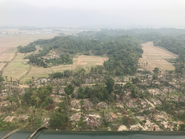 Bob Rae captured this aerial footage of Rakhine State in Myanmar in early February.