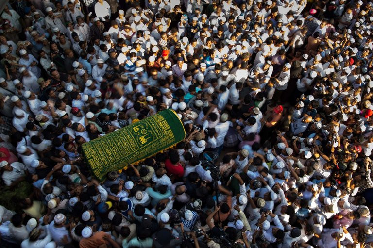 The funeral of U Ko Ni, a top adviser to the governing National League for Democracy, in Yangon, Myanmar, on Monday. Credit Ye Aung Thu/Agence France-Presse — Getty Images