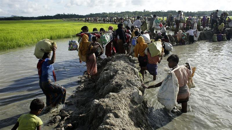 Hundreds of Rohingya are still fleeing Myanmar every week, Amnesty International says [Abir Abdullah/EPA]