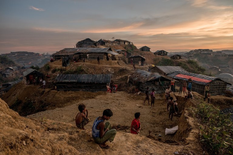 A camp for Rohingya refugees in Balukhali, Bangladesh. More than 650,000 Rohingya have taken refuge in camps across the border in Bangladesh since August, joining 87,000 who had fled earlier. Credit Tomas Munita for The New York Times
