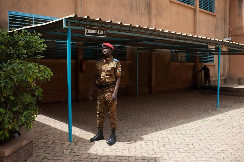 A military at chief of staff's office in Ouagadougou, on 13 October 2017. CRISISGROUP/ Julie David de Lossy