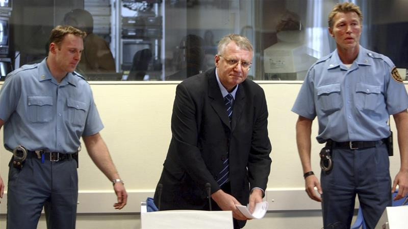 """Seselj has refused to return to The Hague, calling it an illegitimate, """"anti-Serbian"""" court [File: AP]"""