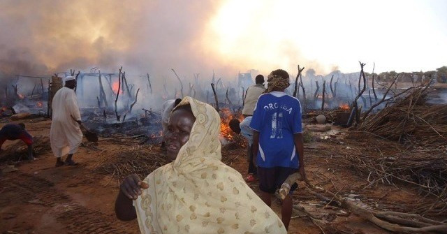 [Arson is a notoriously difficult crime to prove in any circumstances, but particular in those that prevail in most of Darfur; there are often suspicious features to fires such as reported here, but no resource are available to investigate. Here again, UNAMID has been an abject failure and a disgrace to UN peacekeeping—ER]