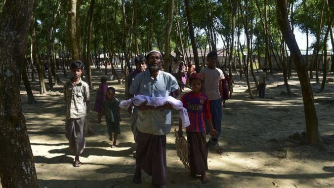 MUNIR UZ ZAMAN/AFP Tens of thousands of Rohingya have fled to refugee camps in Bangladesh since October