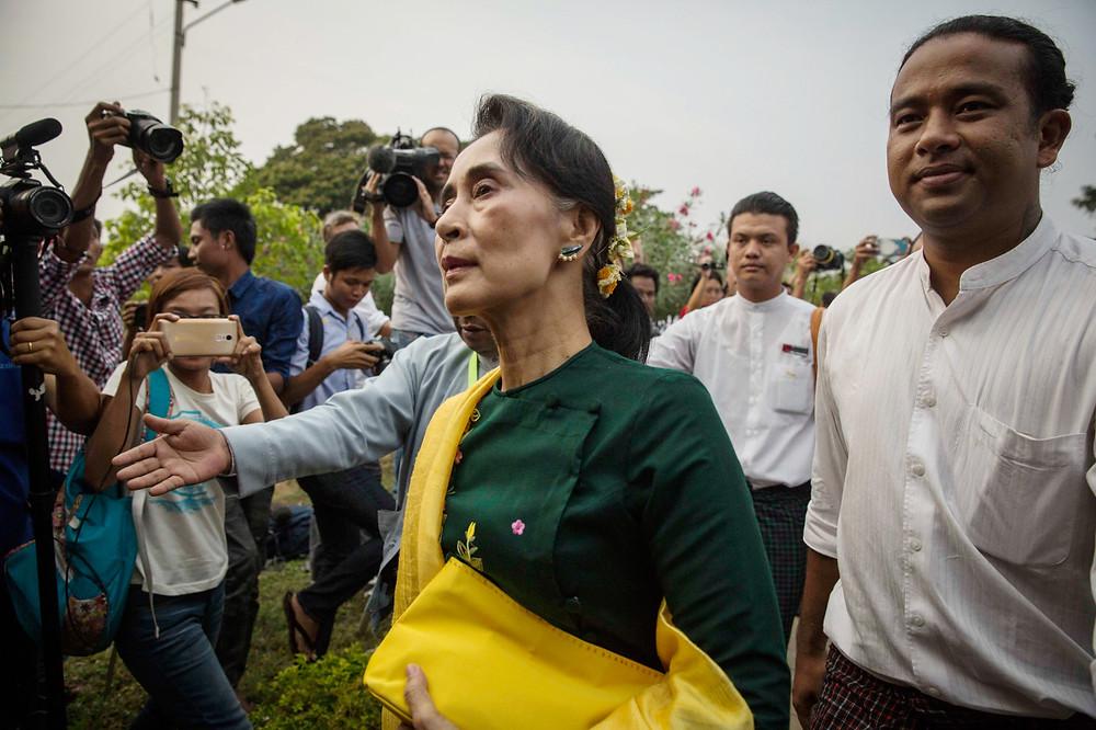 Aung San Suu Kyi on March 10, 2016 in Naypyidaw, Burma. (Lauren DeCicca/Getty Images)
