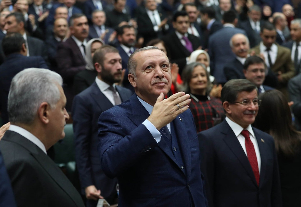 President Recep Tayyip Erdogan in Ankara in January. Erdogan has deftly framed the Afrin battle in Syria as an extension of Turkey's war with Kurdish insurgents at home, tapping into years of public anger with the militant Kurdistan Workers' Party. (Adem Altan/AFP/Getty Images)