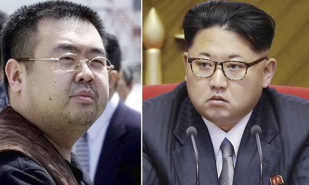 Kim Jong-nam, left, and Kim Jong-un. Photograph: Shizuo Kambayashi, Wong Maye-E/AP