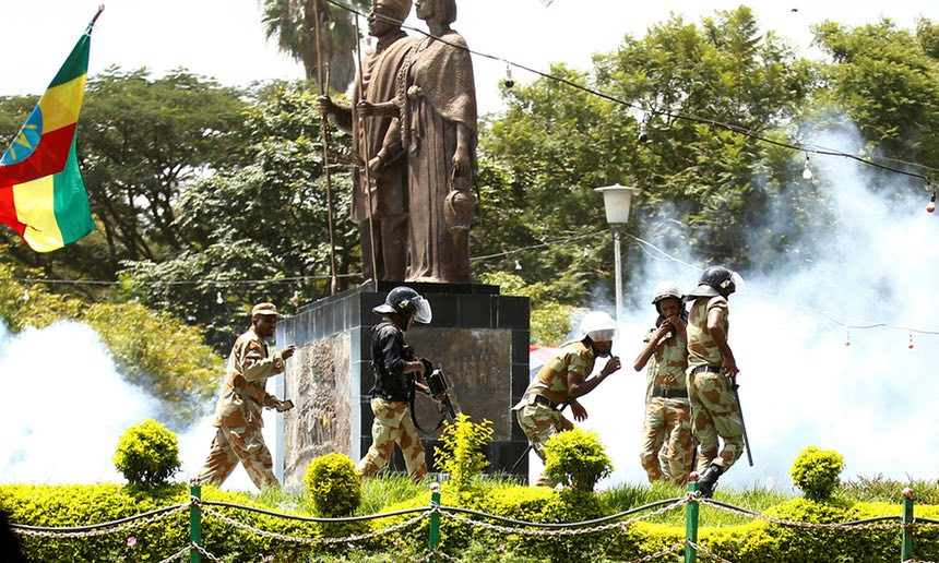 Police fire teargas during Oromo festival