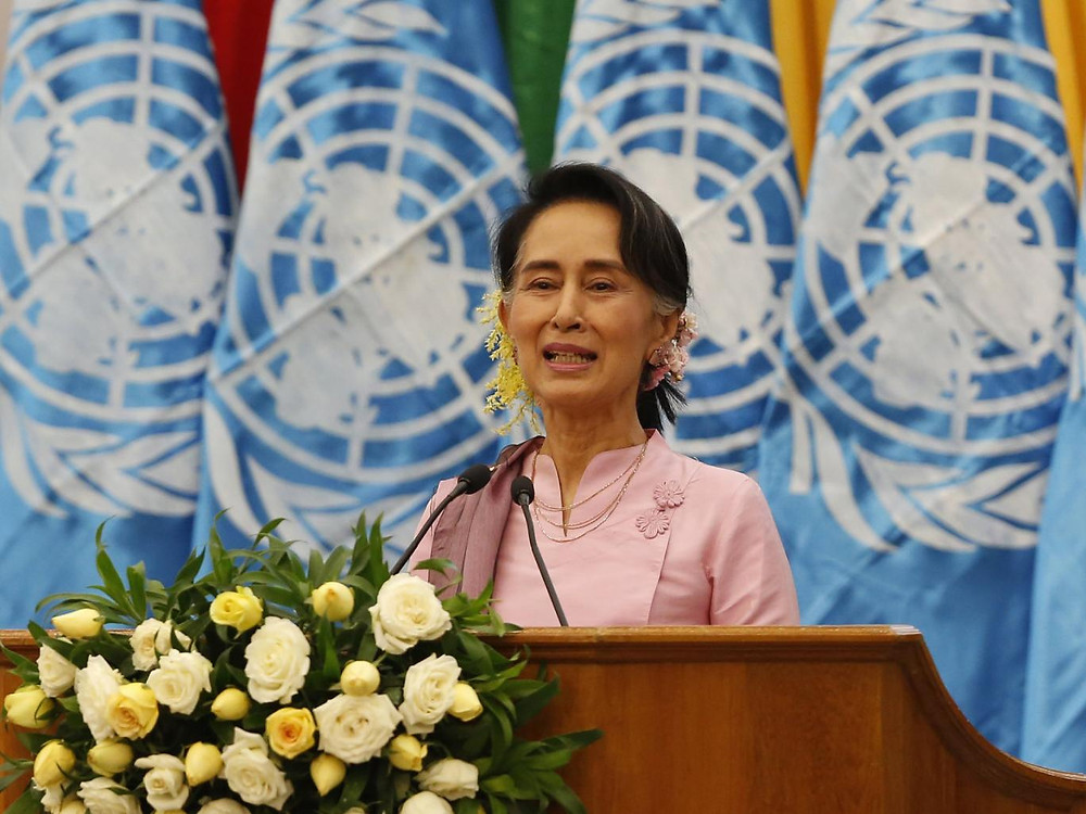 UN reports of mass killings of Rohingya Muslims in Burma are an 'internal affair', said a spokesperson for the country's leader Aung San Suu Kyi EPA