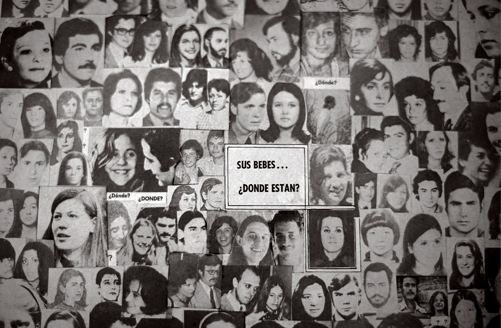 A poster asking about kidnapped children in Buenos Aires in 1998.
