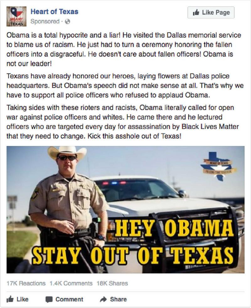 A virulently anti-Obama ad.