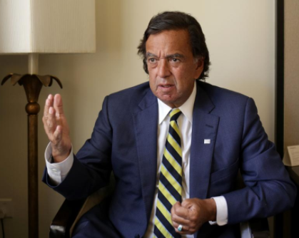 Former New Mexico governor Bill Richardson speaks during an interview with Reuters as a member of an international advisory board on the crisis of Rakhine state in Yangon, Myanmar January 24, 2018. REUTERS/Ann Wang