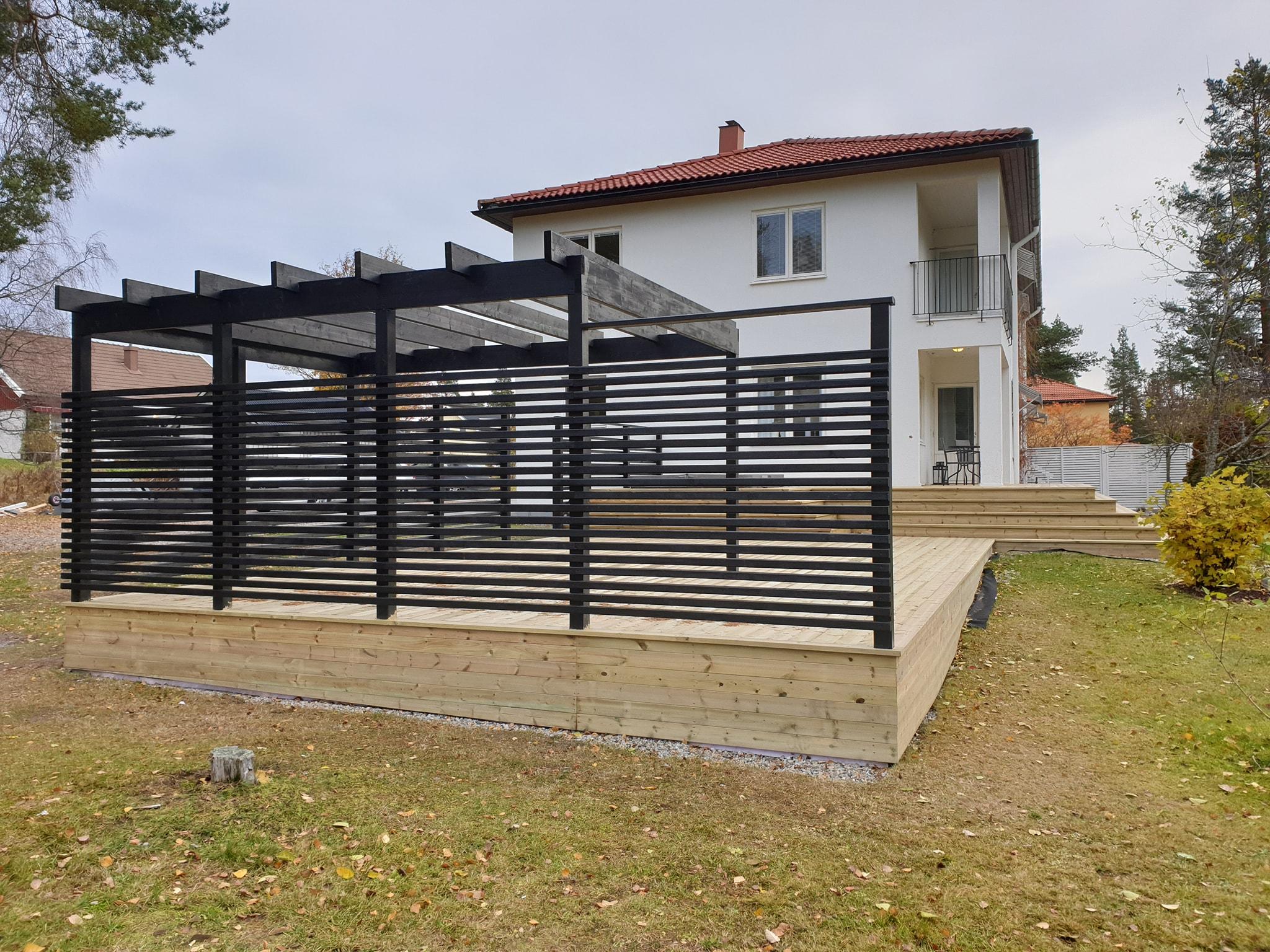 Nybyggnad av Loungeavdelning/Spaavdelning/Altan till Kent Hilli