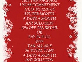 Holiday VIP Tris Tan Package Special
