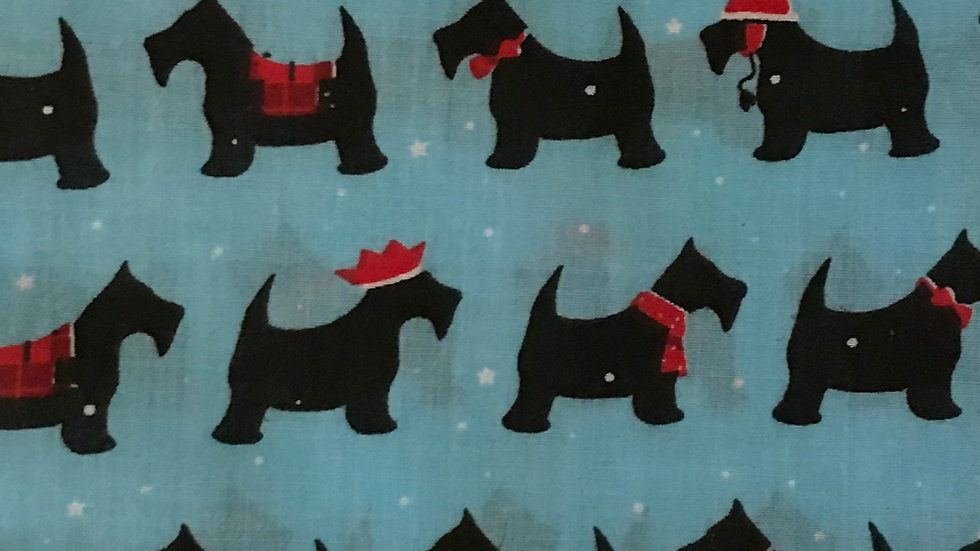 Wedding Favours - Christmas Blue Scottie